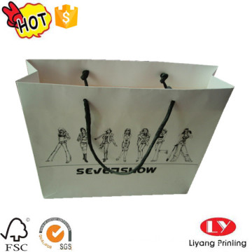 White custom paper bag with logo printed