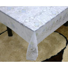 gingham Printed pvc lace tablecloth by roll