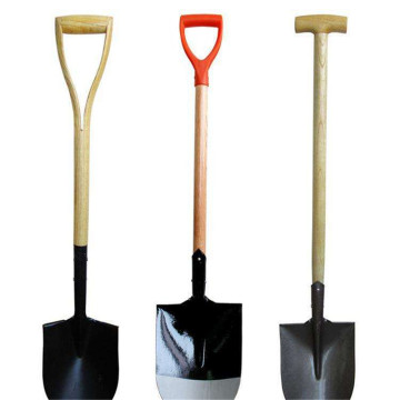 Wooden Handle Shovel Steel Round Head Shovels