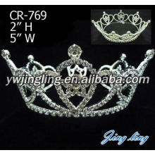 Rhinestone Full Round Beauty Queen Pageant Crown