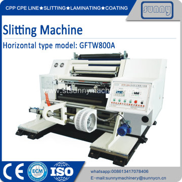 Customized for China Plastic Film Slitting Machine, Automatic Film Roll Slitting Machine, Plastic Film Slittng Machine Supplier Slitter machine price for film 800mm export to France Manufacturer