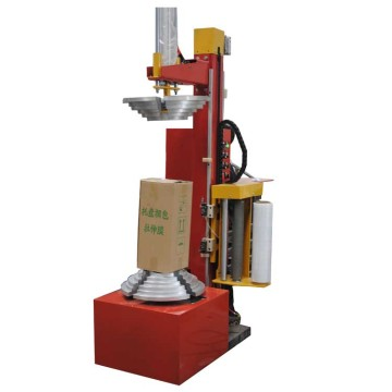Semi-auto carton stretch wrapping machine