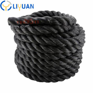 Professional 38MM black white battle rope