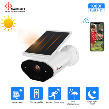 Solar Battery Powered Wireless IP Camera