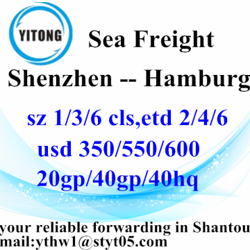 Shenzhen Sea Freight Transportation to Hamburg