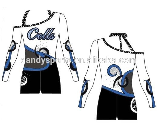 off the shoulder cheer uniform