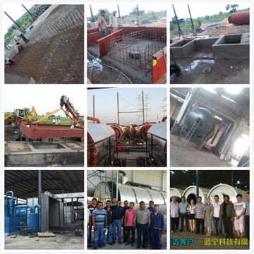 mixed garbage processing to oil machine