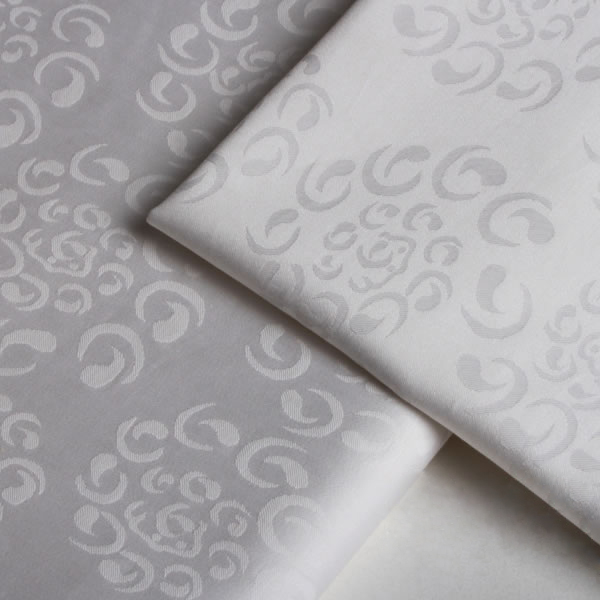 White Sateen Jacquard fabrics for wool quilts