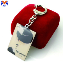 Good Quality for Custom Printed Keychains Metal custom epoxy resin keychain export to Peru Suppliers