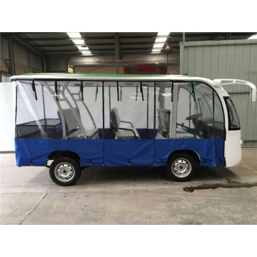 CE approved gas sightseeing bus for Resort Use