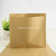 Compostable 3 Sided Seal Kraft Paper Bag