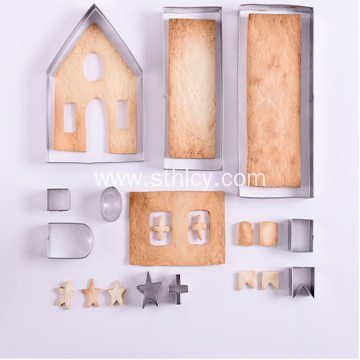 3D Stainless Steel Biscuit Mold Christmas Gingerbread House