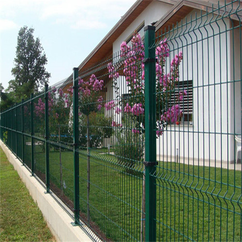 galvanized and PE coated wire mesh fence