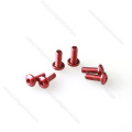 M3 Colored button cap head Aluminum Screws