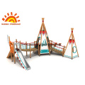 Tent Combination Mix Outdoor Playground Equipment For Children