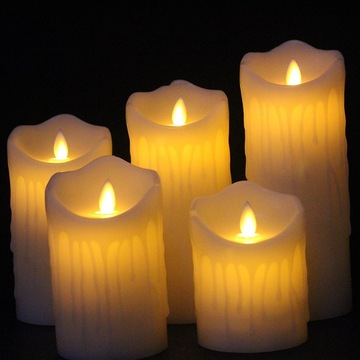 Flameless Real Wax Moving Wick Electric LED Candle