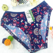 China wholesale new style printed floral sapphire sexy briefs bamboo fiber hipster 510