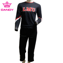 Black And Red Striped Boys Cheerleader Attire