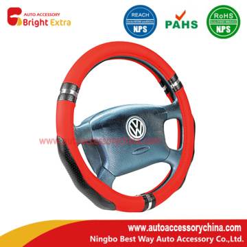 Europe style for Steering Wheel Cover Repair Black And Red Auto Steering Wheel Cover supply to Grenada Manufacturers