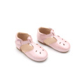Leather T-Strap Kids Girl Dress Shoes for Children