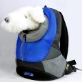 Blue XLarge PVC and Mesh Pet Backpack