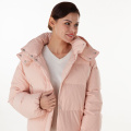 Pink new fashion hooded down jacket