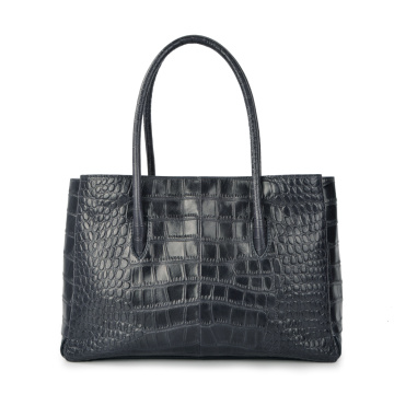 Fashion Crocodile Genuine Leather OL Daily Business Bag