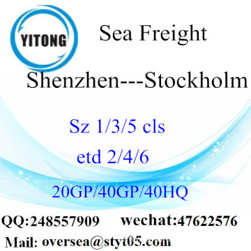 Shenzhen Port Sea Freight Shipping To Stockholm