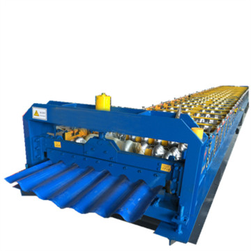 Color sheet corrugated metal roofing machines