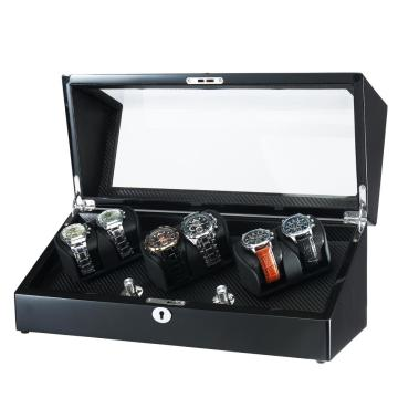 watch winder for 6 watches with quiet motor
