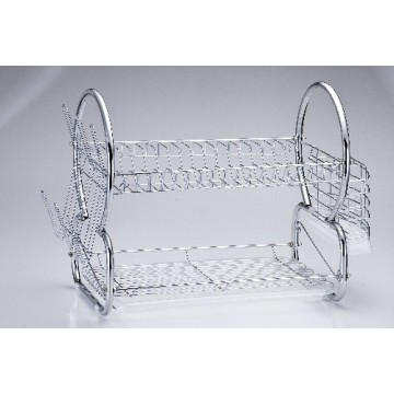 2 Tier Chrome Wire Dish Rack