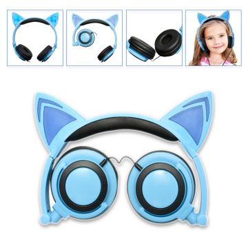 Molde Privado Patenteado Com Fio Glowing Cat Ear Headphones