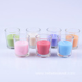 classic cup shape,scented feature,colorful glass jar candles