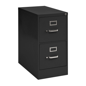 Black Metal 2 Drawer File Cabinet