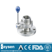 Hygienic Flanged and Threaded Butterfly Valve DIN