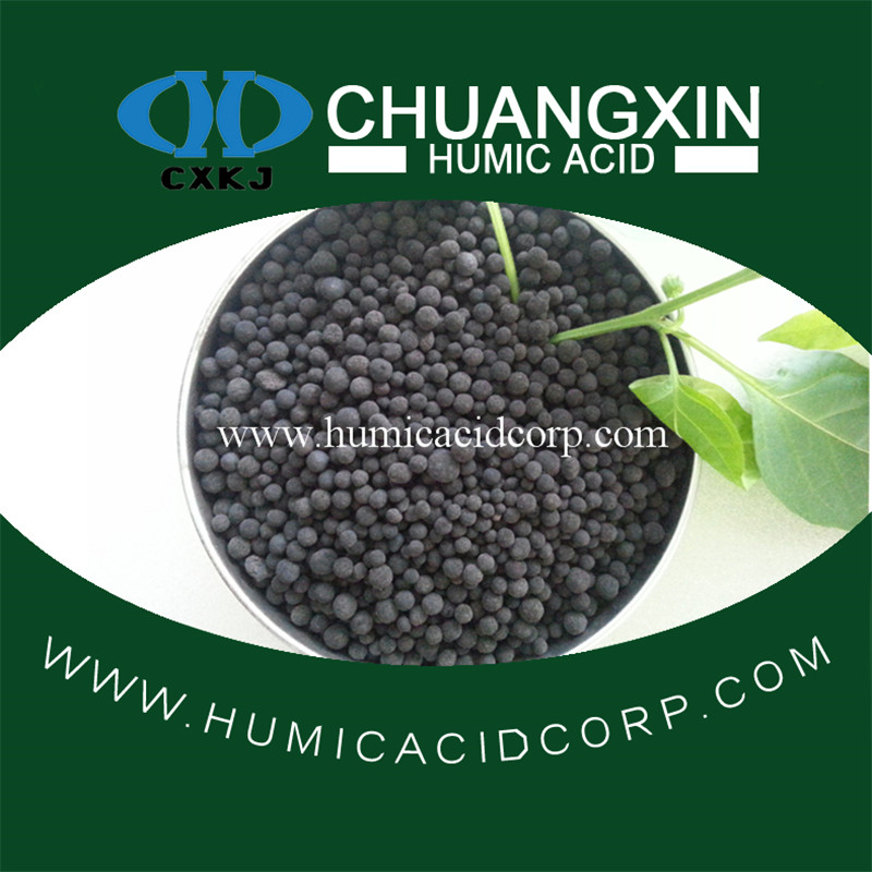 Humic acid organic and natual fertilizer in soil