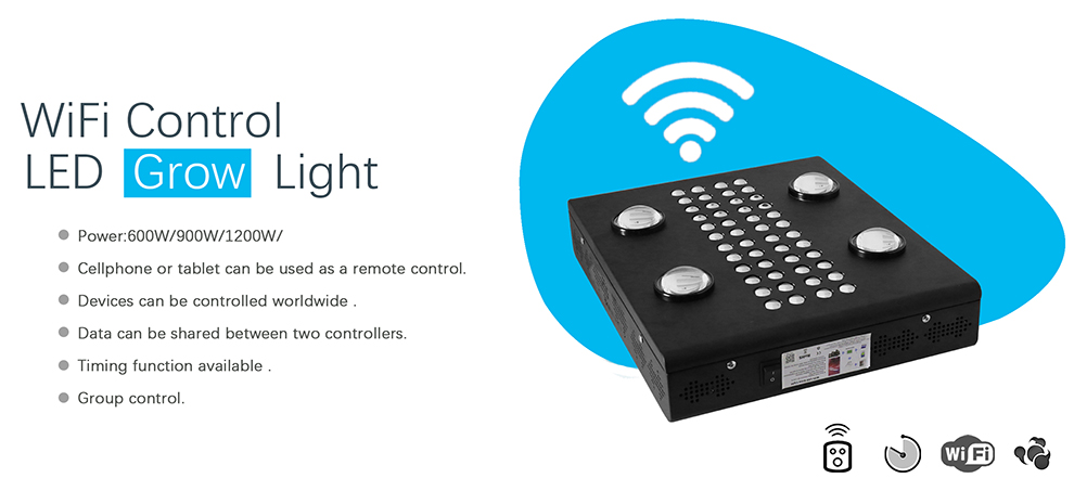 Wifi remote control led grow light