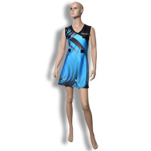 Comfortable soft lycra material netball dress