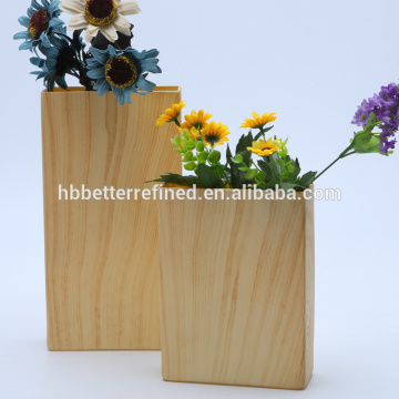 Cheap Marble Effect Square Glass Flower Vase