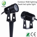 Outdoor RGB lighting 3watt led spike light