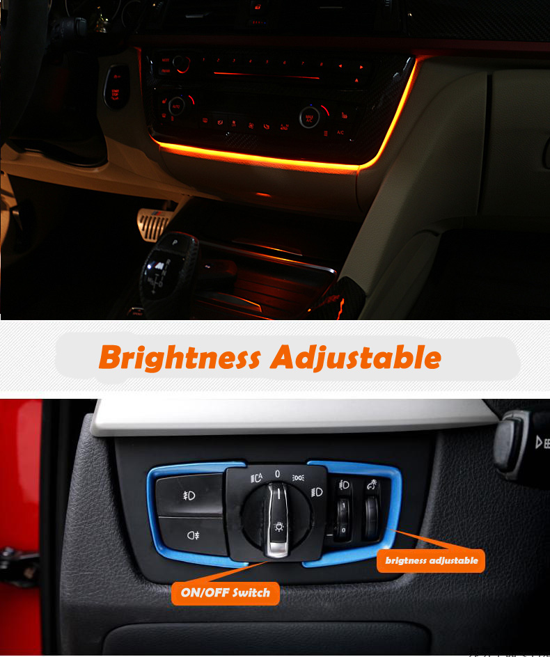 bmw console atmosphere lights