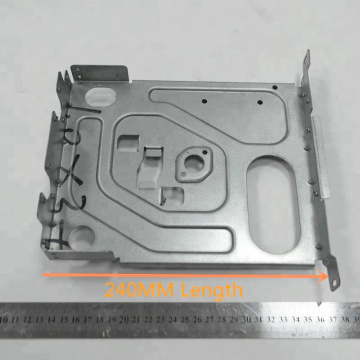 Aluminum plate with stamping bending laser cutting machining