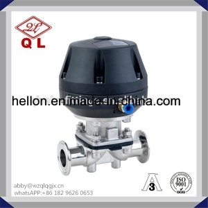 Stainless Steel Sanitary Pneumatic Clamped Diaphragm Valve