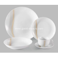 20 Pieces Porcelain Coupe Dinner Set