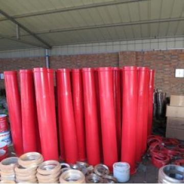 Concrete pump twin wall cone pipe
