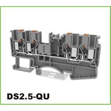 2.5mm2 2 in 2 out DIN-Rail Terminal Block