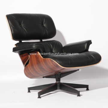 Clssic Leather Charles Eames Lounge Chair with Ottoman