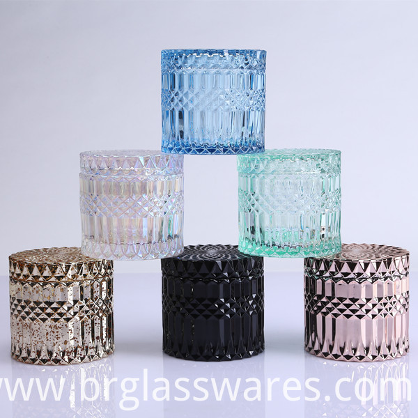 colored glass candle jar 5