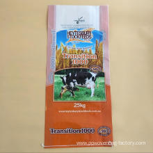 Plastic animal feed bags with gusset