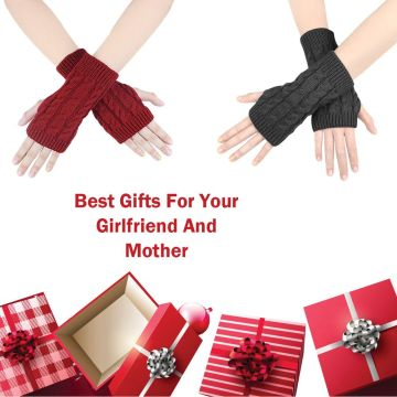 YONHEE Women Arm Gloves Wirst Warmth Fingerless Mittens